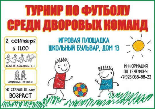 Афиша Дворовый футбол